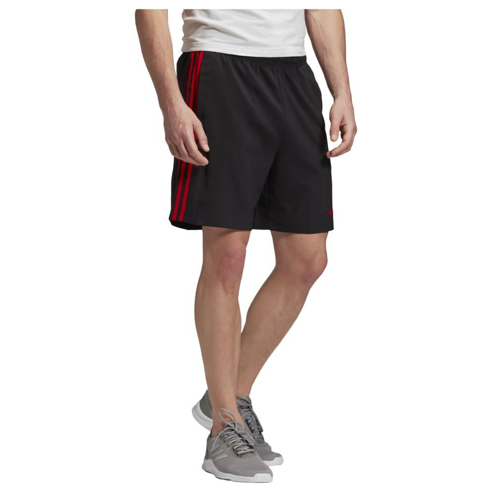 Short Deportivo Hombre Adidas Essentials 3 Stripes 7in Chelsea image number 2.0