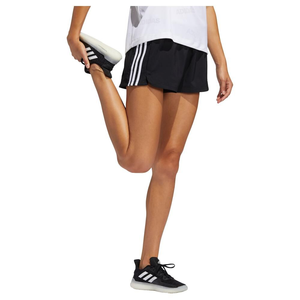 Short Deportivo Mujer Adidas Woven Pacer 3 Bandas image number 0.0