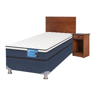 Cama Americana Cic Excellence Plus / 1.5 Plazas / Base Normal  + Set De Maderas