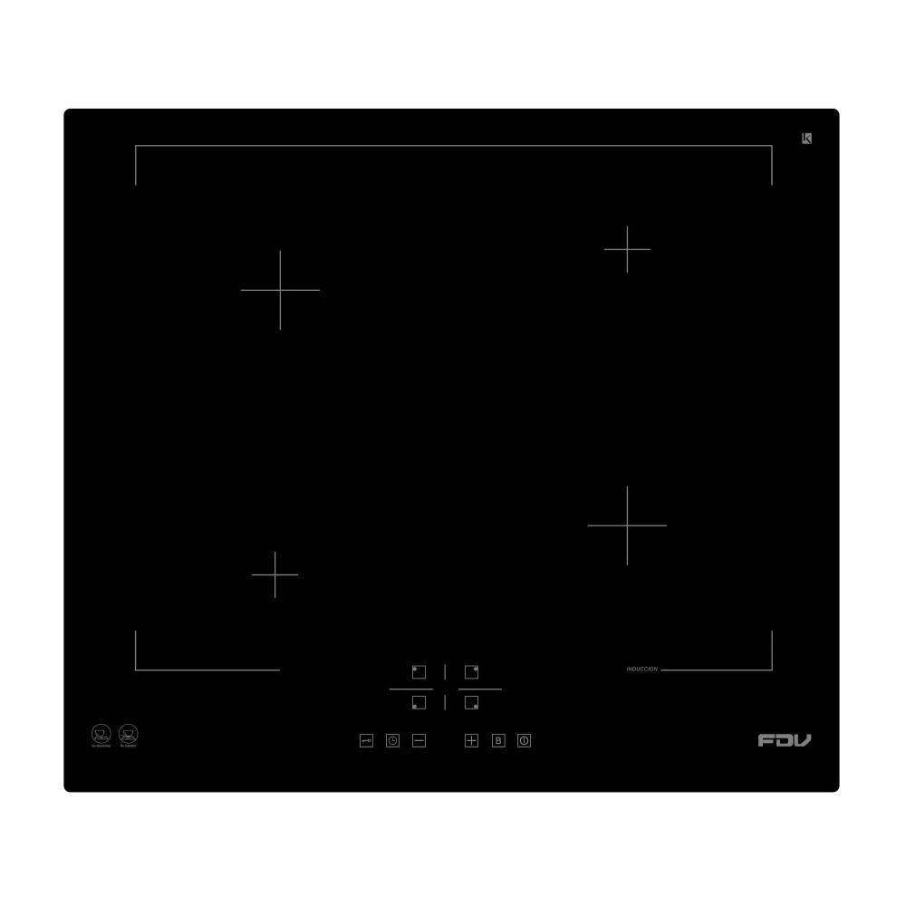 Encimera Inducción Fdv Deluxe 4 Black / 4 Focos image number 0.0