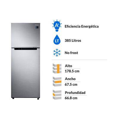 Refrigerador Samsung No Frost, Convencional Rt38k50ajs8 385 Litros, 301 A 400 Litros