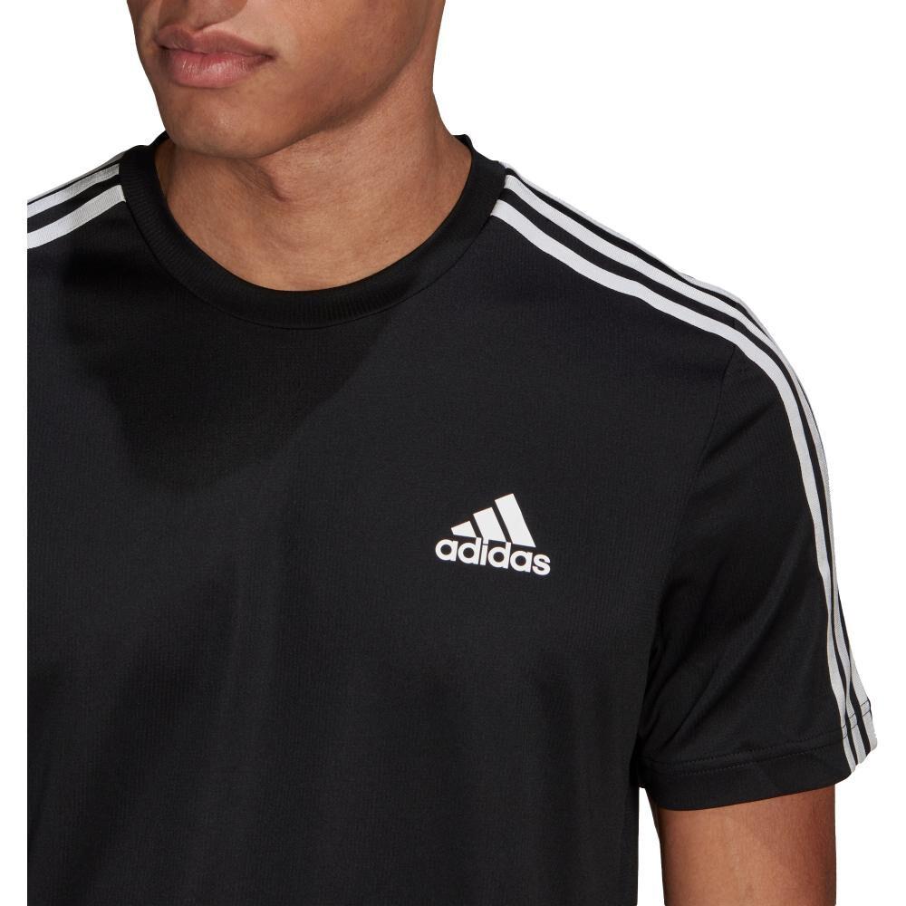 Polera Hombre Adidas D2m 3 Stripes image number 3.0