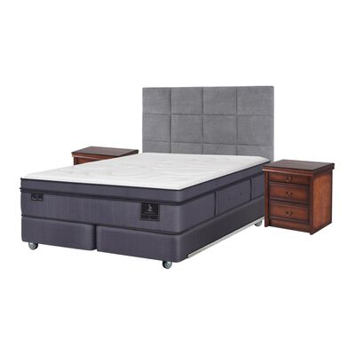 Box Spring Cic Super Premium / King / Base Dividida  + Set De Maderas
