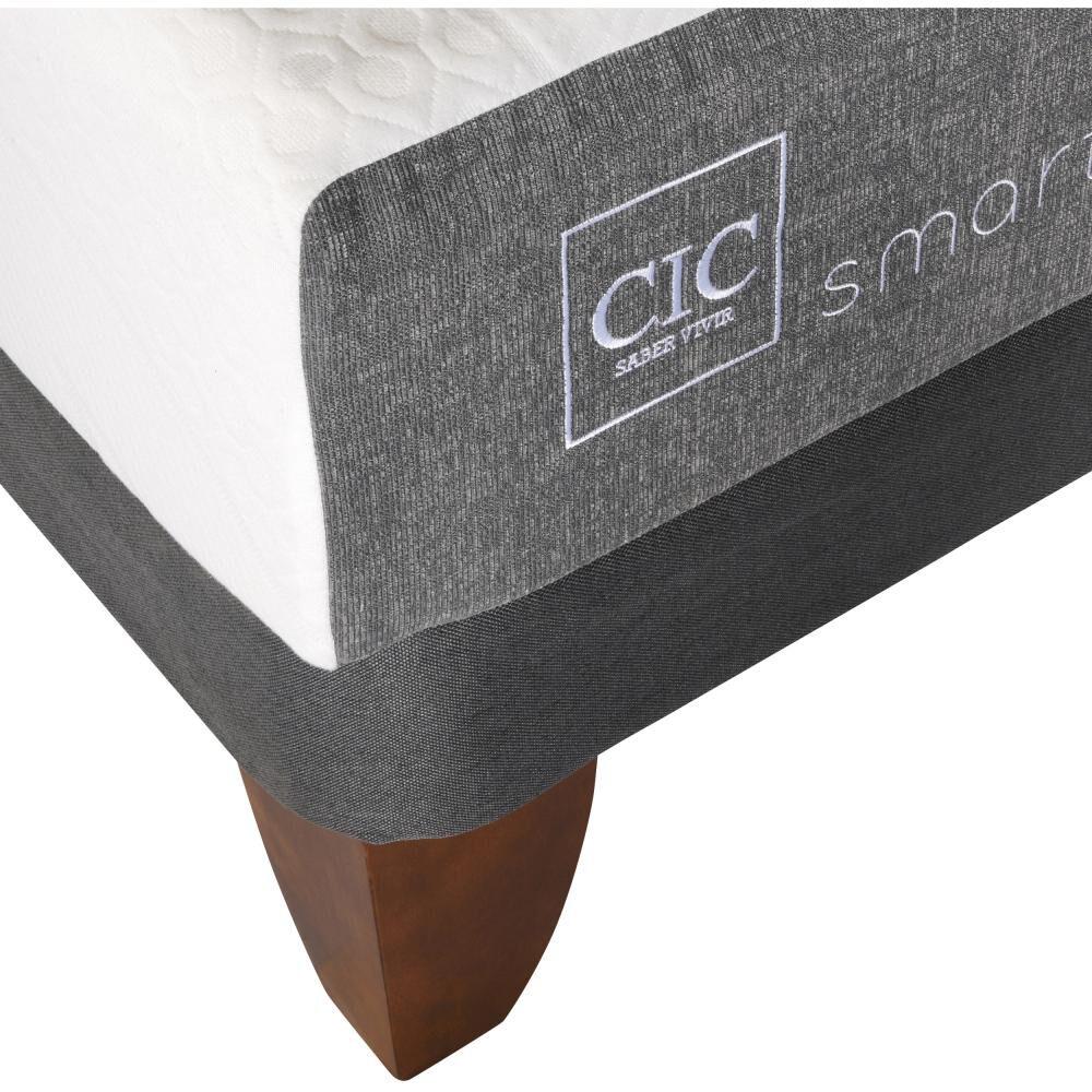 Cama Europea Cic Smart / 2 Plazas / Base Dividida  + Set De Maderas image number 2.0