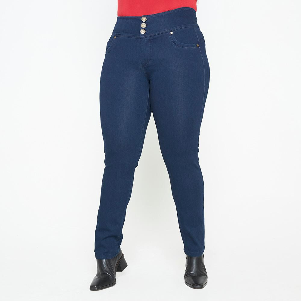 Jeans Mujer Tiro Alto Recto Push up Sexy large image number 0.0