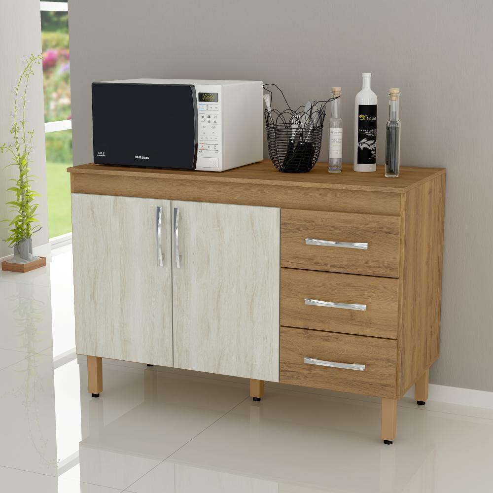 Mueble De Cocina Home Mobili Kalahari/montana / 2 Puertas / 3 Cajones image number 2.0