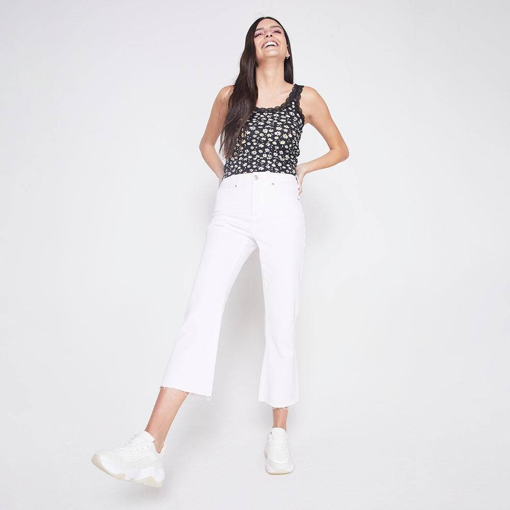 Jeans Tiro Alto Culotte Mujer Freedom image number 1.0
