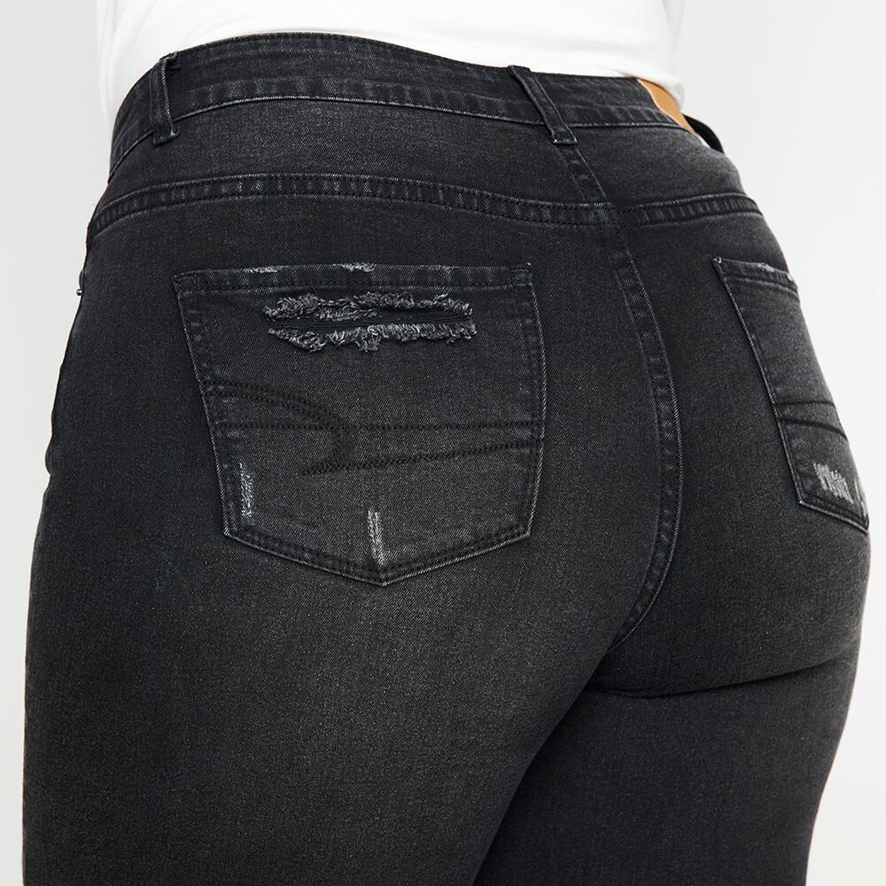 Jeans Tiro Alto Skinny Con Roturas Mujer Sexy Large image number 5.0