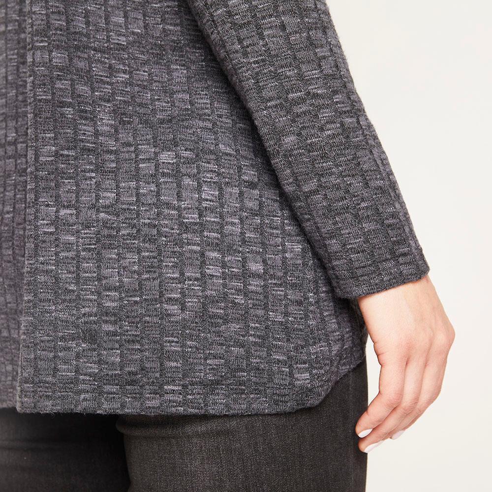 Sweater Melange Canuton Regular Fit Cuello Redondo Mujer Geeps image number 4.0