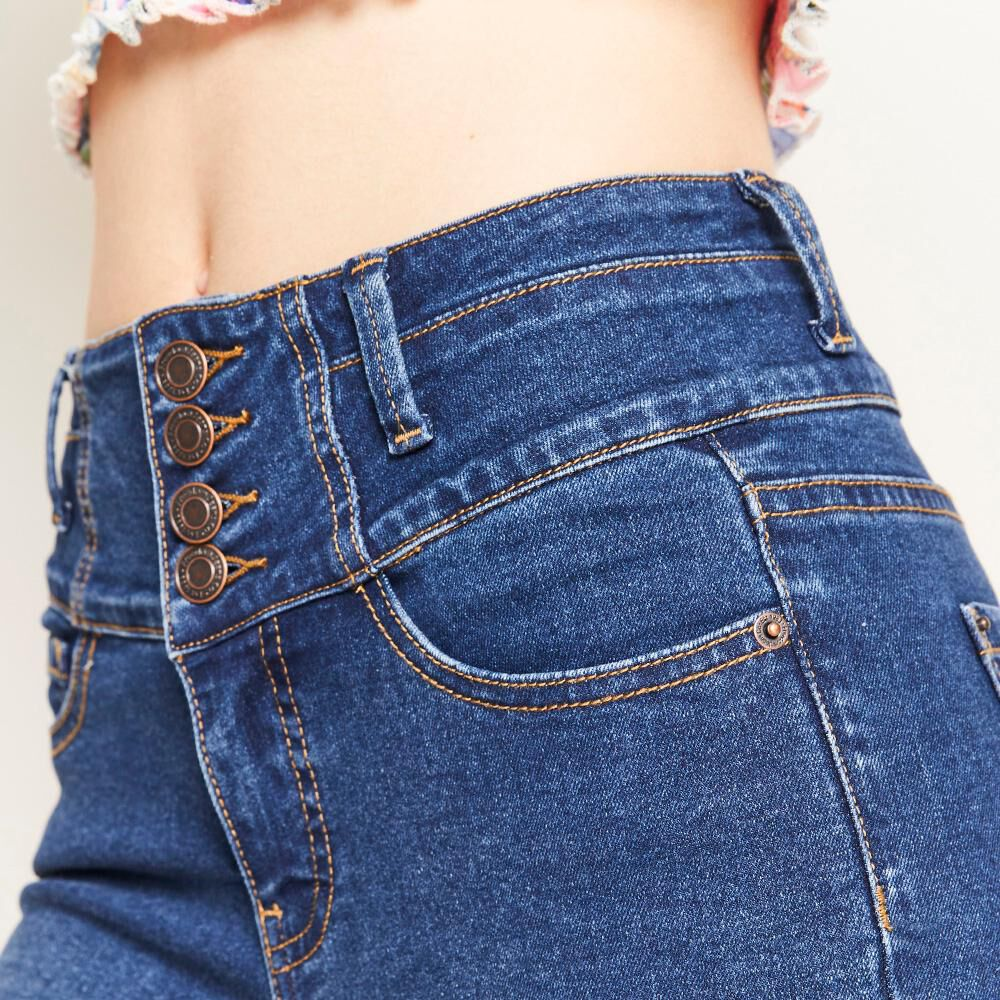 Jeans Pretina Alta Botones Frontales Sculpture Mujer Freedom image number 5.0