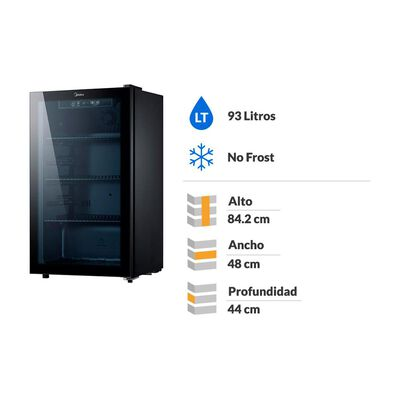 Beer Cooler Midea No Frost Mbc-960n125sen 93 Litros