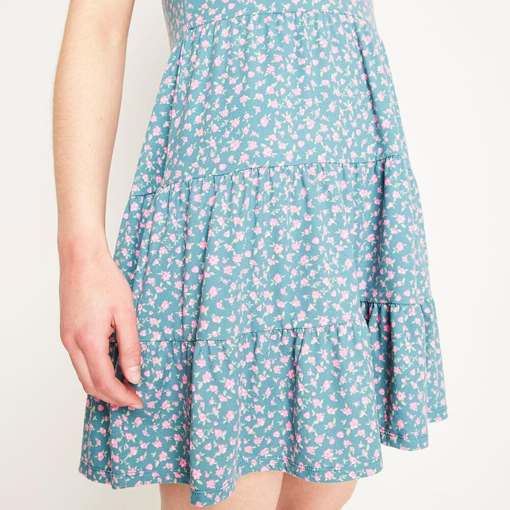Vestido Corto Relaxed Fit Manga Corta Mujer Freedom image number 4.0