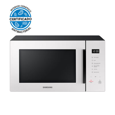 Microondas Samsung Grill Fry Blanco Control Touch / MG30T5018CE/ZS / 30 Litros