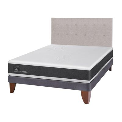 Cama Europea Cic Ortopedic / 2 Plazas / Base Normal  + Respaldo