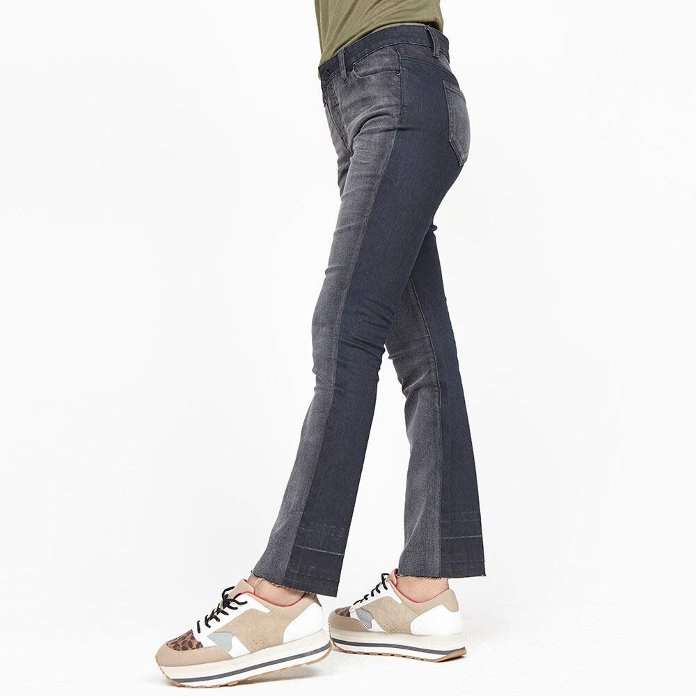 Jeans Mujer Tiro Alto Flare Rolly go image number 0.0