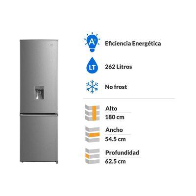 Refrigerador Bottom Freezer Midea MRFI-2760S349RW-DA / No Frost / 262 Litros