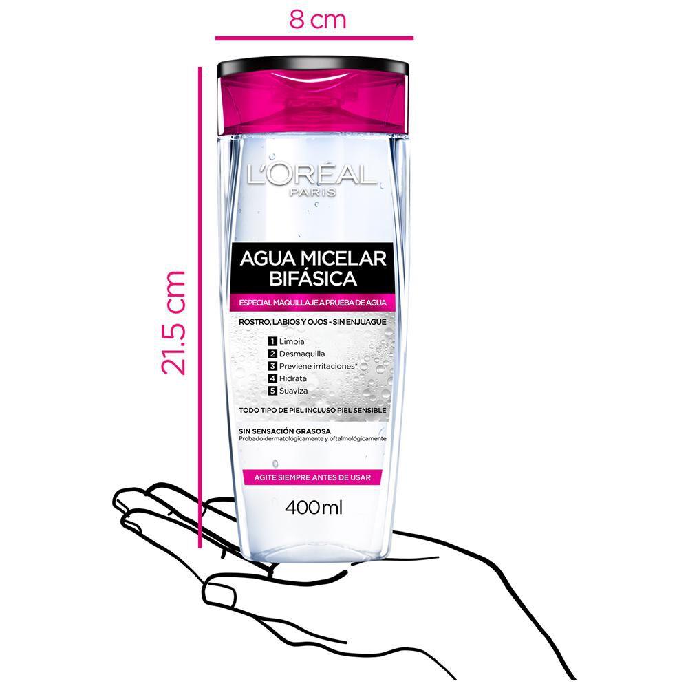 Agua Micelar Dermo Expertise / 400 Ml image number 3.0