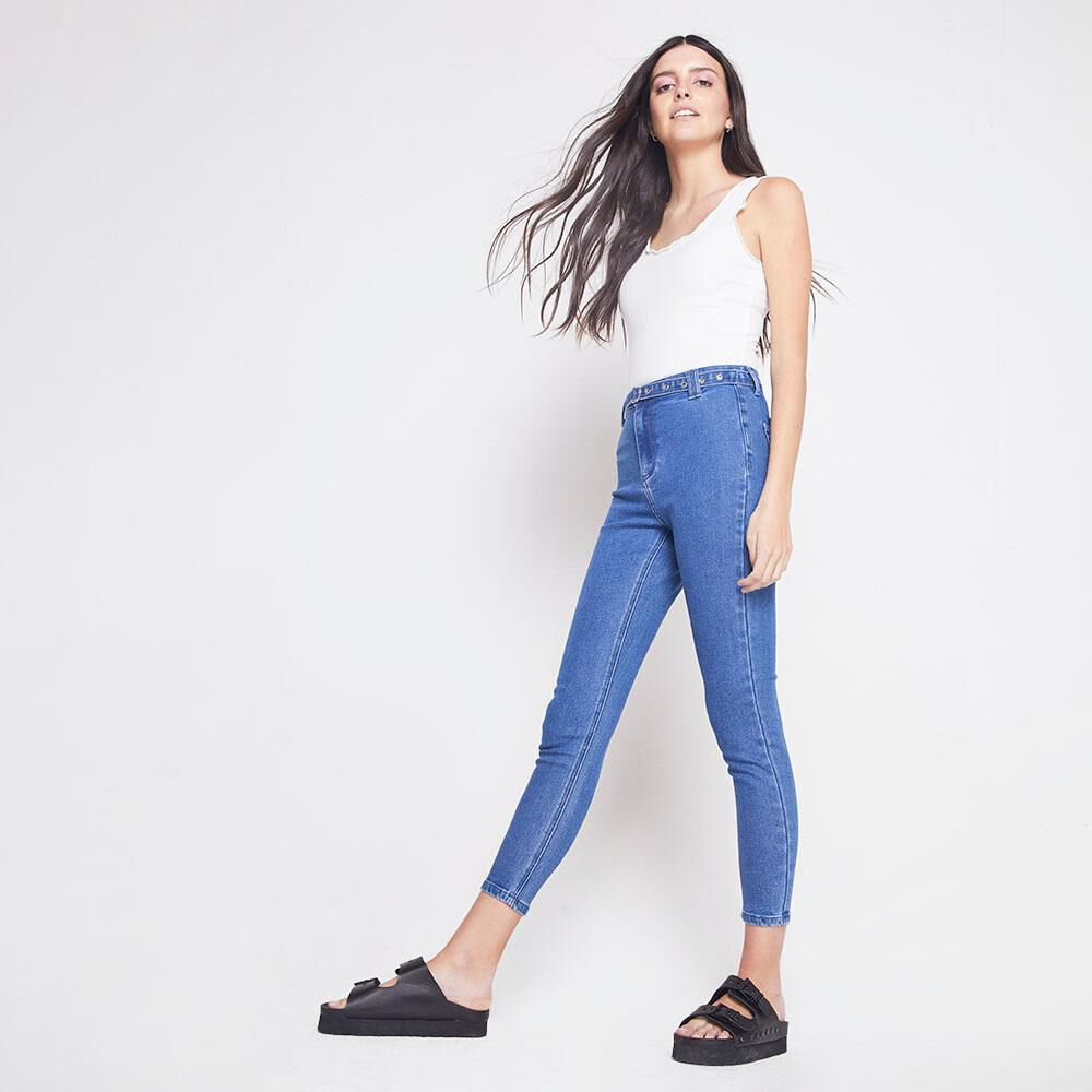 Jeans Tiro Alto Mujer Freedom image number 1.0