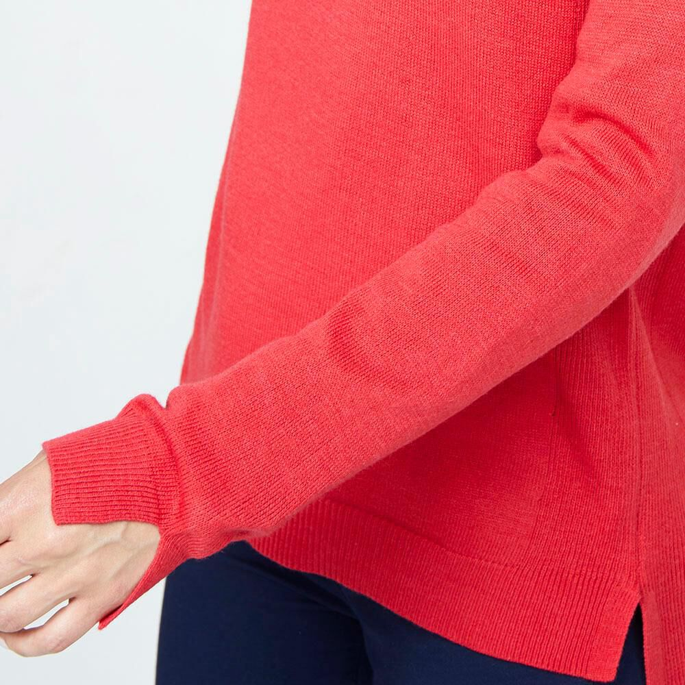 Sweater Liso Largo Mujer Geeps image number 3.0