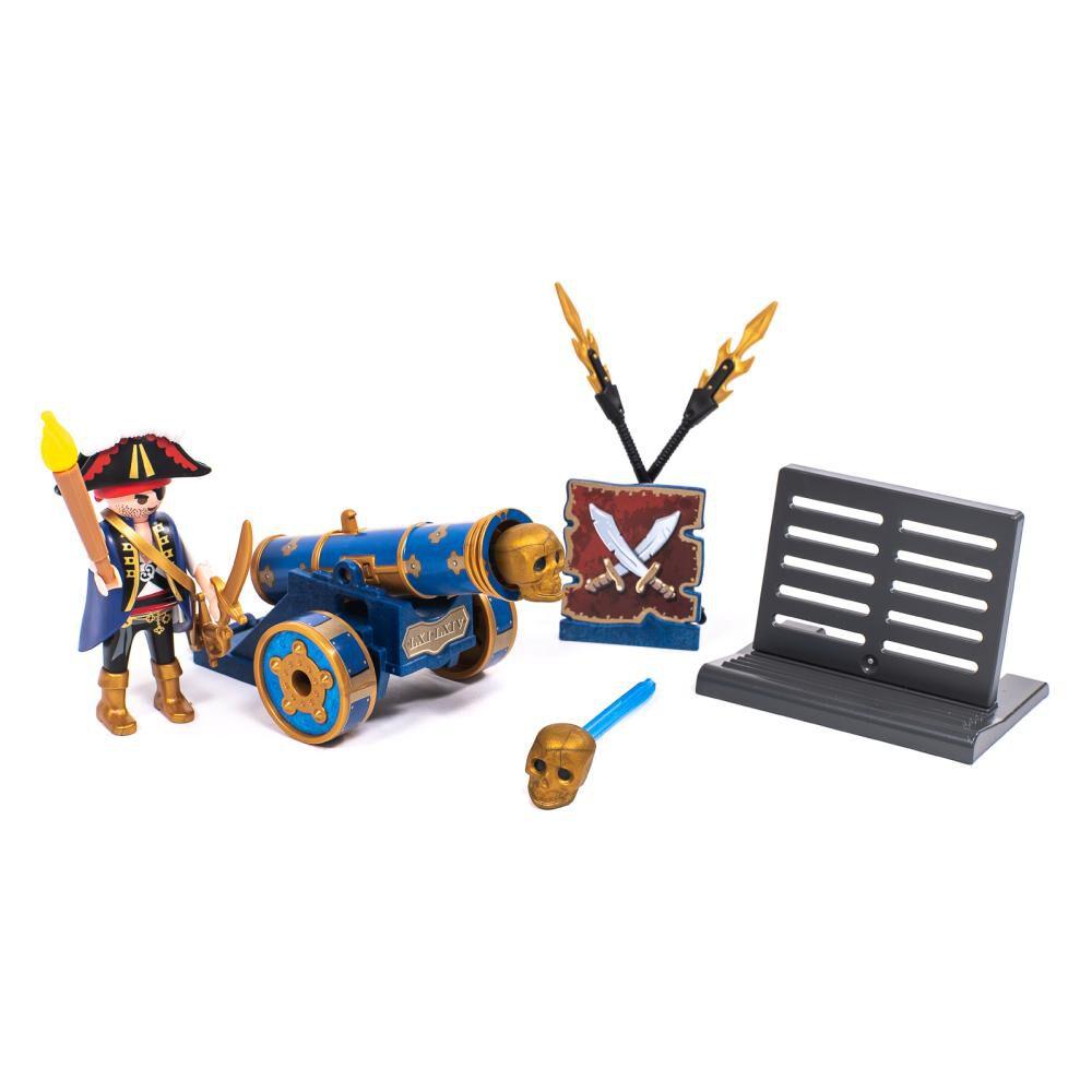 Figura De Acción Playmobil Cañón Interactivo Azul Con Pirata image number 0.0