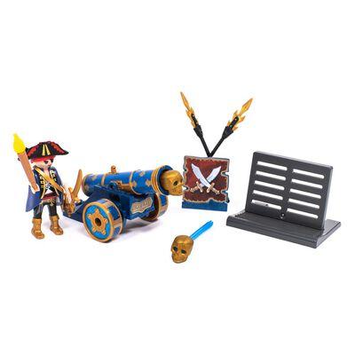 Figura De Acción Playmobil Cañón Interactivo Azul Con Pirata