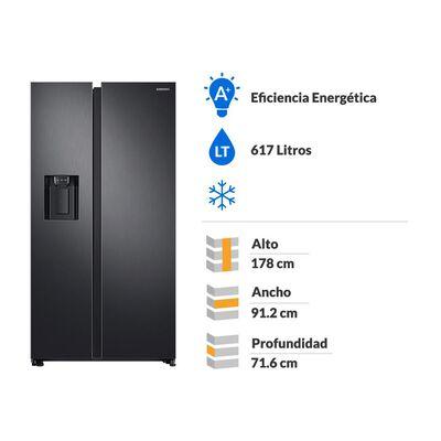 Refrigerador Samsung Side By Side Rs68n8240b1 617 Litros