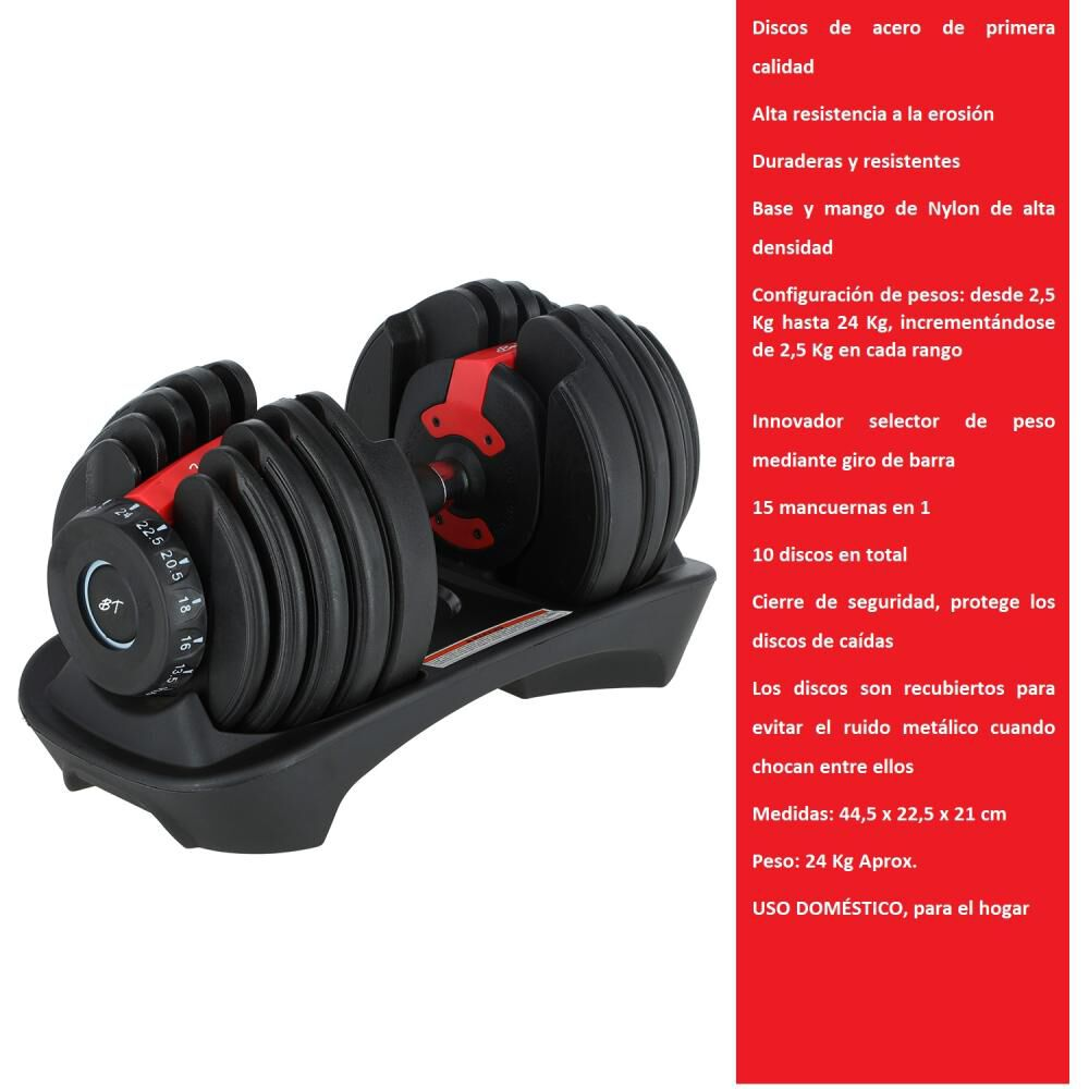 Pesas Bodytrainer Dumbbell 24ax image number 1.0