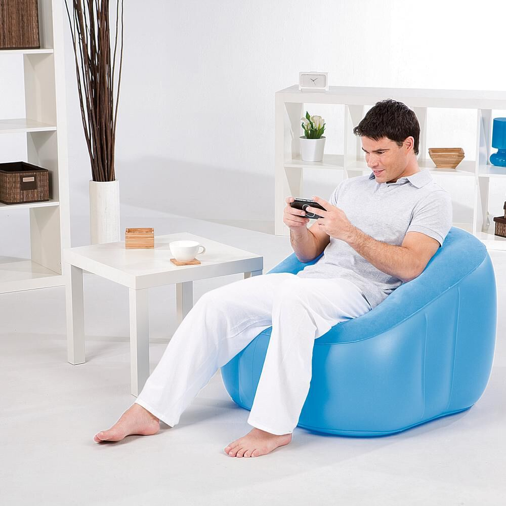 Sillón Inflable Bestway Comfi Cube Azul image number 1.0