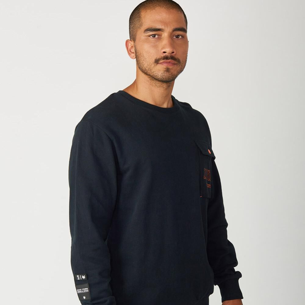 Polerón Hombre Zoo York Crew Neck Charged image number 4.0