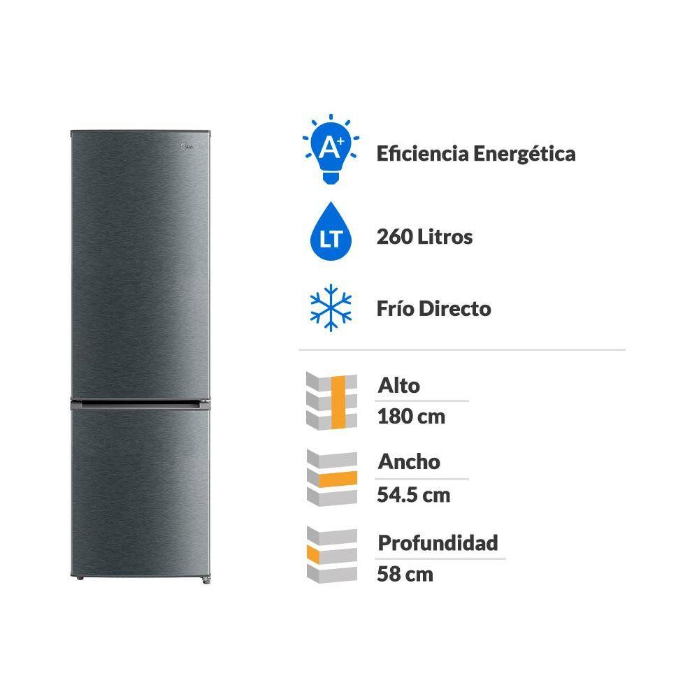 Refrigerador Midea Mrfi-2660S346Rw / Frío Directo / 260 Litros image number 1.0
