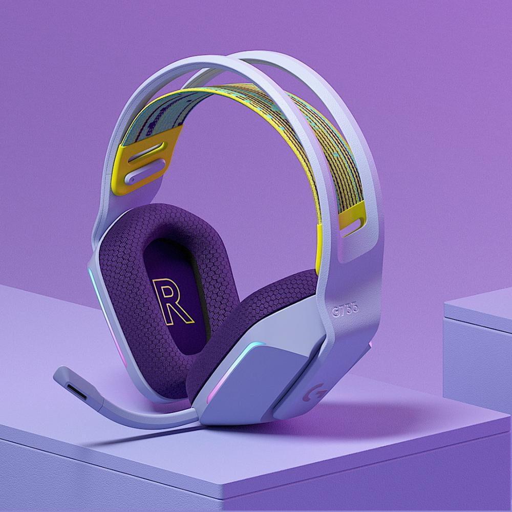 Audífonos Gamer Logitech G733 Lightspeed Rgb Lilac image number 1.0