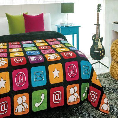 Frazada Mink Apps Mobile / 1.5 Plazas