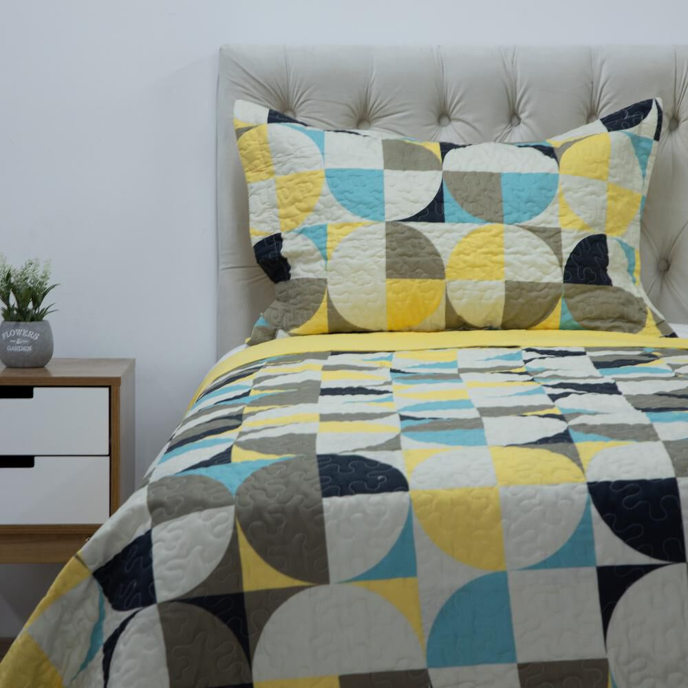 Quilt Azhome Circulo 15p / 1.5 Plazas image number 0.0