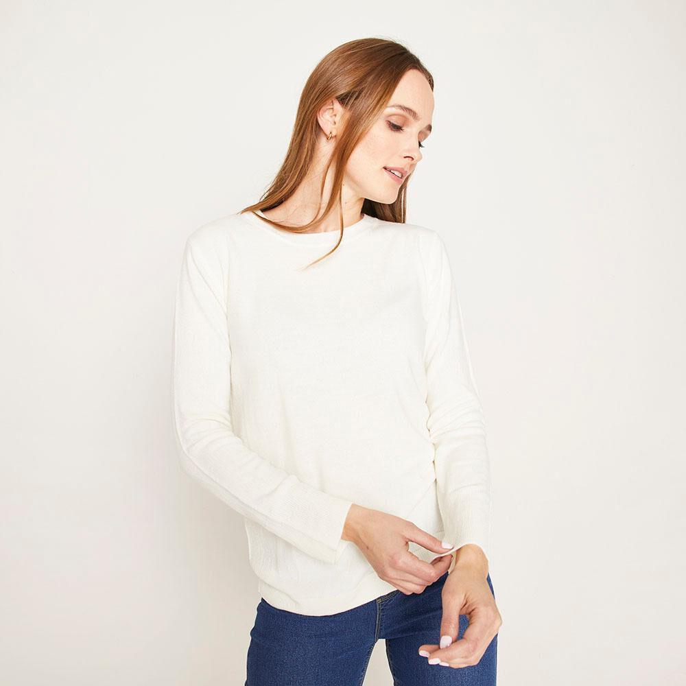 Sweater Básico Regular Fit Cuello Redondo Mujer Geeps image number 0.0