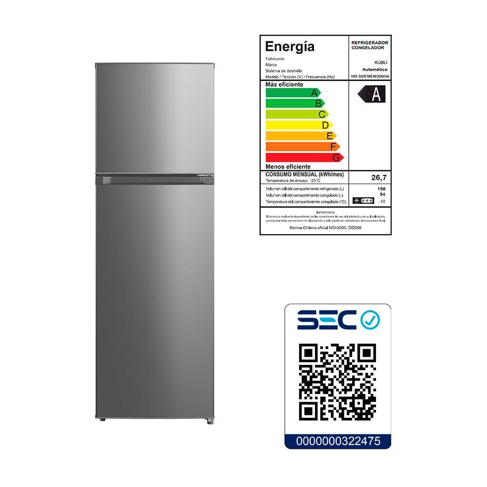 Refrigerador Bottom Freezer Kubli Convencional/ No Frost / 252 Litros / A image number 2.0