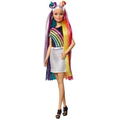 Muñeca Barbie Peinados De Arcoíris