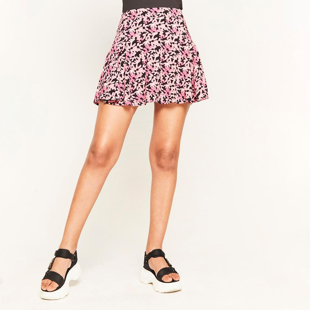 Short Falda Estampada Tiro Alto Regular Mujer Rolly Go image number 0.0