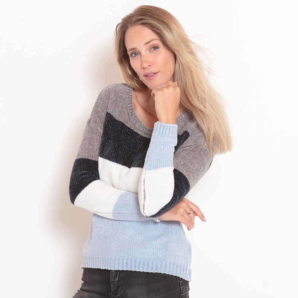 Sweater Chenille Rayas Mujer Wados image number 0.0