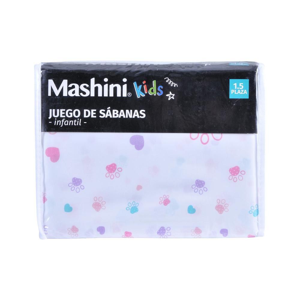Juego De Sábanas Mashini Patitas / 1.5 Plazas image number 2.0
