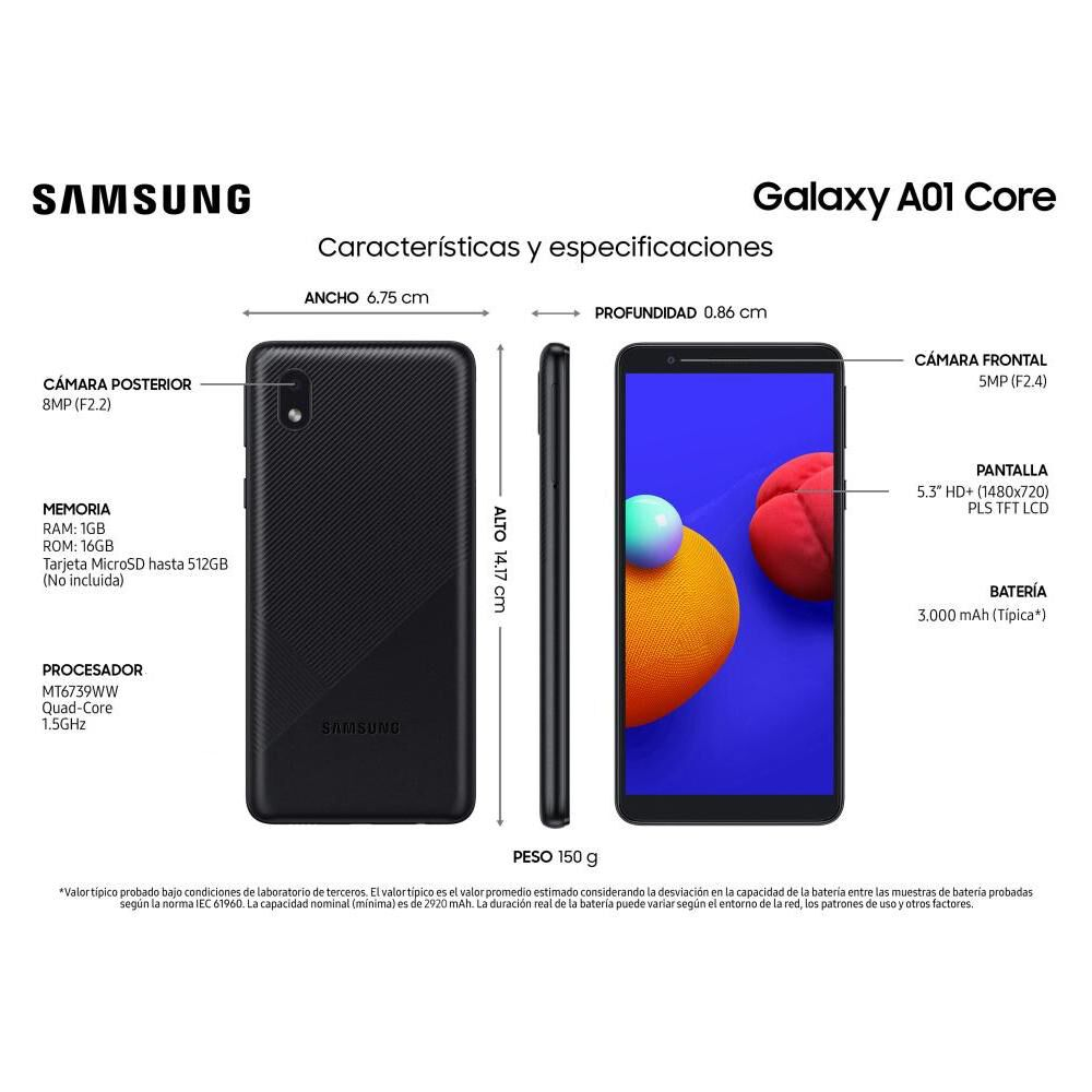 Smartphone Samsung A01 Core 16 Gb / Claro image number 7.0