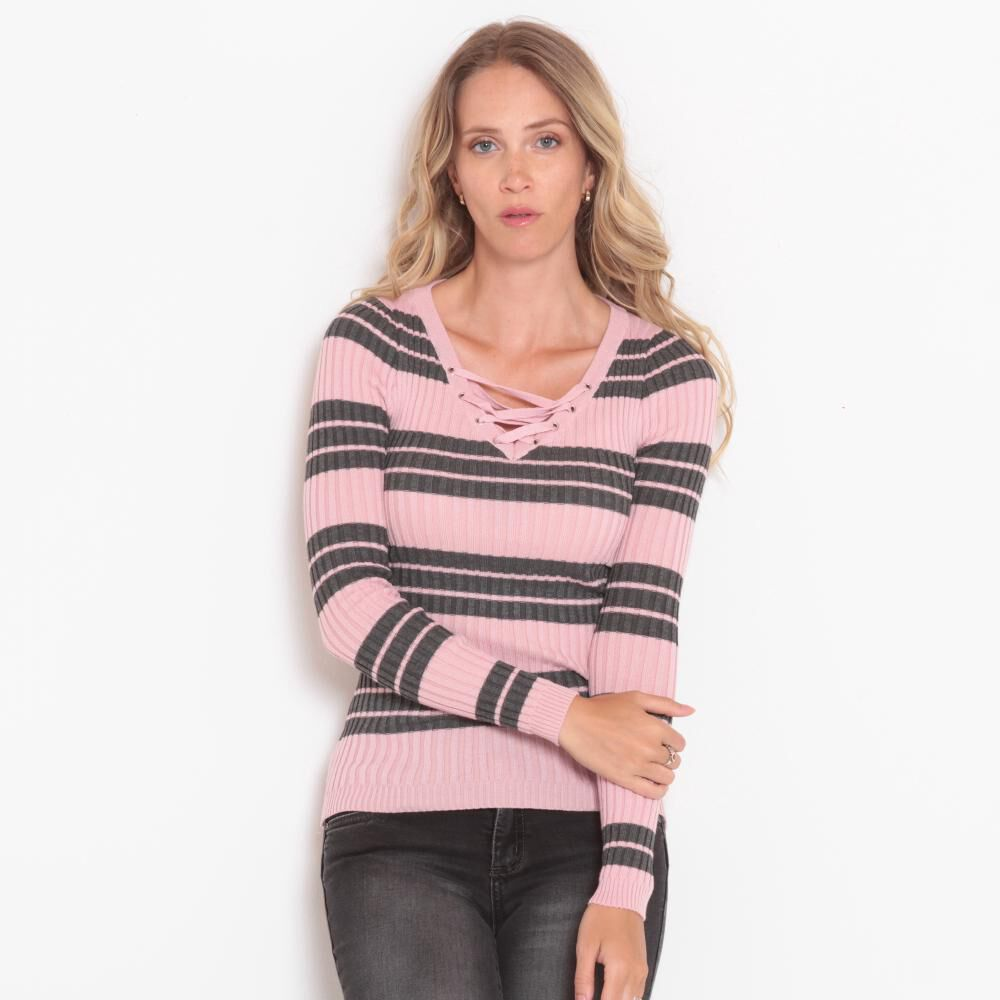 Sweater Liso Cuello V Mujer Wados image number 0.0