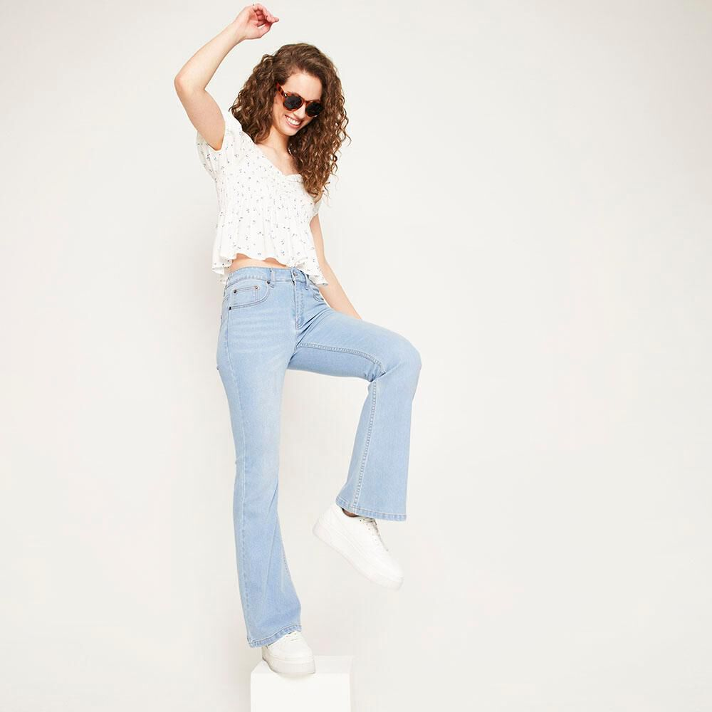 Jeans Tiro Alto Flare Mujer Freedom image number 1.0
