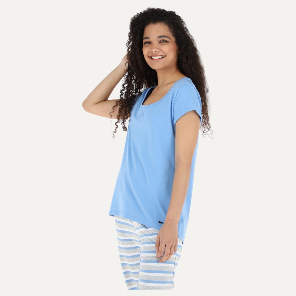 Pijama Mujer Flores / 2 Piezas image number 1.0