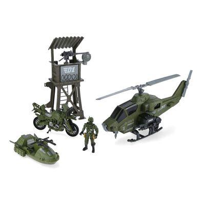 Set De Juguetes Hitoys Set Militar - Helicoptero