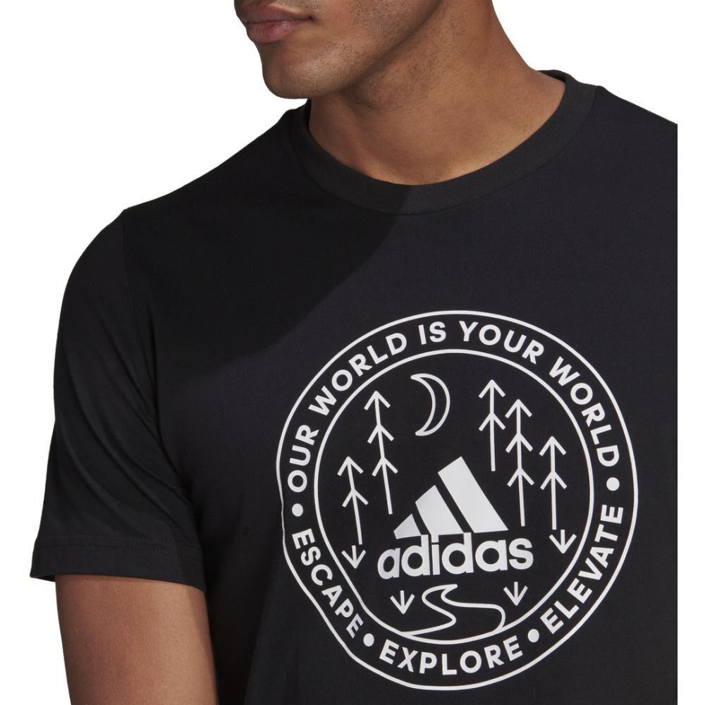 Polera Hombre Adidas Men Explore Nature Tee image number 3.0