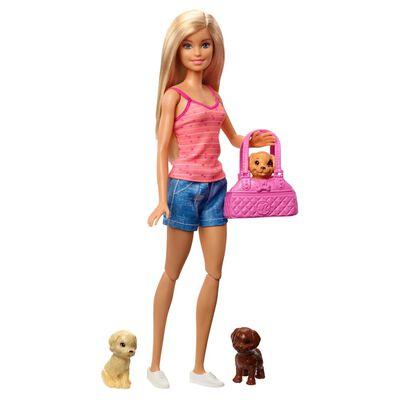Muñeca Barbie Cuidado De Cachorritos