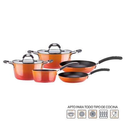 Batería De Cocina Marmicoc Fuego / 7 Piezas