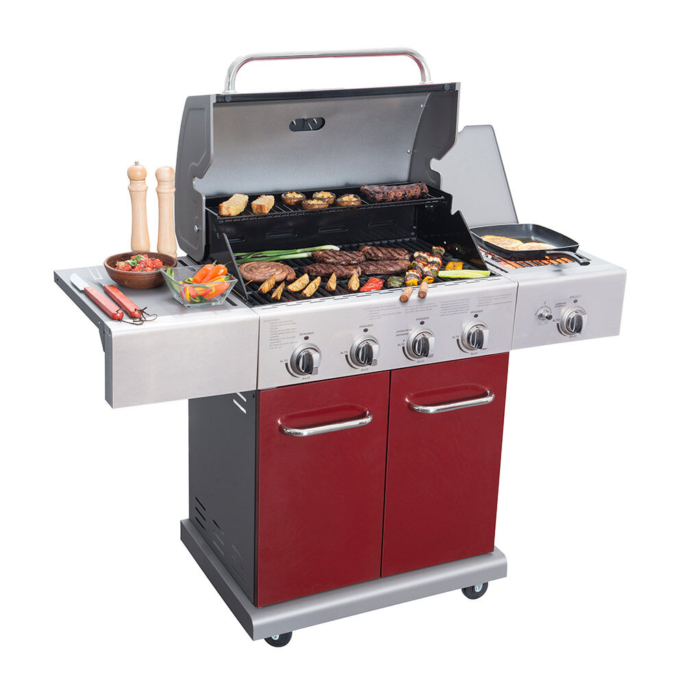Parrilla A Gas Bbq Gril Bbq401Gcir / 4 Quemadores + Lateral Infrarojo image number 2.0