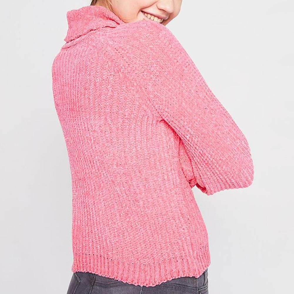 Sweater Tejido Cuello Alto Mujer Freedom image number 2.0