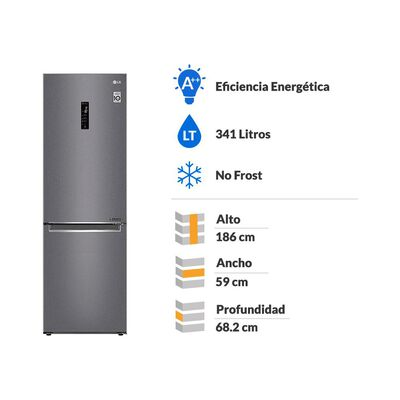 Refrigerador LG LB37MPGK / No Frost / 341 Litros